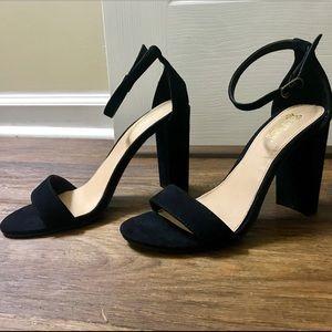 Shoes - Black platform ankle heels